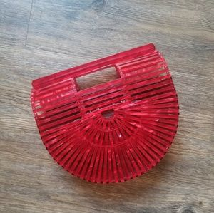 Brand new Cult Gaia red clutch acrylic bag